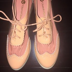 Chase and Chloe patent oxfords